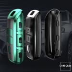 Glossy Carbon-Look Schlüssel Cover passend für Kia Schlüssel  SEK14-K7