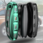 Glossy Carbon-Look Schlüssel Cover passend für BMW Schlüssel  SEK14-B5