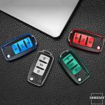 Silikon Leder-Look Schlüssel Cover passend für Volkswagen, Skoda, Seat Schlüssel  SEK13-V2
