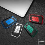 Silikon Leder-Look Schlüssel Cover passend für Volkswagen, Skoda, Seat Schlüssel  SEK13-V4