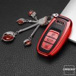Silikon Leder-Look Schlüssel Cover passend für Audi Schlüssel  SEK13-AX4