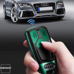 Silikon Leder-Look Schlüssel Cover passend für Audi Schlüssel  SEK13-AX6