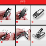 Silikon Leder-Look Schlüssel Cover passend für Audi Schlüssel  SEK13-AX7