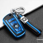 Silikon Leder-Look Schlüssel Cover passend für BMW Schlüssel  SEK13-B5