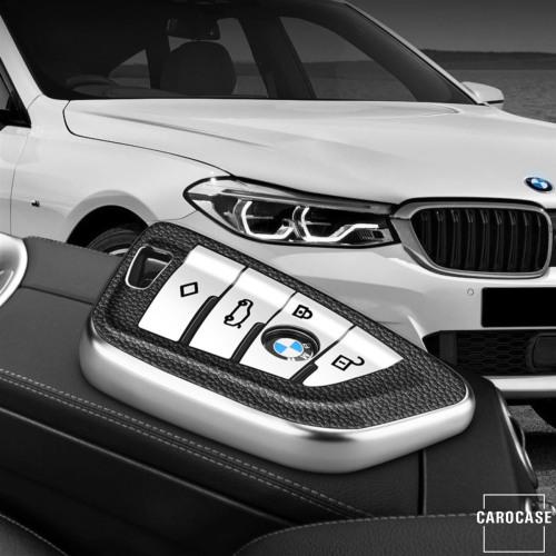 Silikon Leder-Look Schlüssel Cover passend für BMW Schlüssel  SEK13-B7