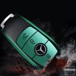 Silikon Leder-Look Schlüssel Cover passend für Mercedes-Benz Schlüssel  SEK13-M9