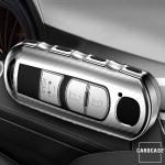 Glossy Schlüsselhülle mit Tastenschutz passend für Mazda Schlüssel  SEK15-MZ2