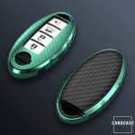 Glossy Schlüsselhülle mit Tastenschutz passend für Nissan Schlüssel  SEK15-N7