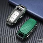 TPU Silikon Schlüsselhülle mit Tastenschutz passend für Audi Schlüssel  SEK16-AX7