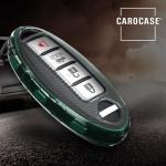 TPU Silikon Schlüsselhülle mit Tastenschutz passend für Nissan Schlüssel  SEK16-N7