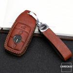 Premium Leder Schlüsseletui passend für Mercedes-Benz Schlüssel schwarz LEK62-M9-1