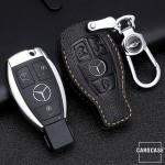 Premium Leder Schlüsseletui passend für Mercedes-Benz Schlüssel  LEK62-M8