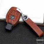 Premium Leder Schlüsseletui passend für Mercedes-Benz Schlüssel  LEK62-M7