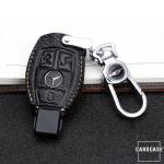 Premium Leder Schlüsseletui passend für Mercedes-Benz Schlüssel braun LEK62-M7-2