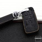 Premium Leder Schlüsseletui passend für Volkswagen, Skoda, Seat Schlüssel  LEK62-V4