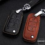 Premium Leder Schlüsseletui passend für Volkswagen, Skoda, Seat Schlüssel  LEK62-V3X