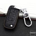 Premium Leder Schlüsseletui passend für Volkswagen, Skoda, Seat Schlüssel  LEK62-V2X