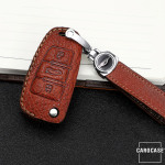 Premium Leder Schlüsseletui passend für Audi...