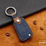 Premium Leder Cover passend für Volkswagen, Skoda, Seat Schlüssel + Anhänger  LEK60-V3