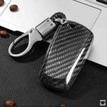 Anthrazit Lederband Schlüsselanhänger inkl. Karabinerhaken