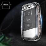 TPU Silikon Schlüsselhülle mit Tastenschutz passend für Land Rover Schlüssel  SEK16-V4