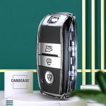 TPU Silikon Schlüsselhülle mit Tastenschutz passend für Kia Schlüssel  SEK16-K7