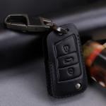 Leder Schlüssel Cover mit Ziernahnt passend für  Schlüssel  LEK18-V3X