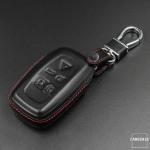 Leder Hartschalen Cover passend für Land Rover Schlüssel schwarz LEK48-LRA