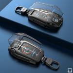 Premium Alu Schlüssel Etui passend für BMW Autoschlüssel  inkl. Tastenschutz HEK55-B8