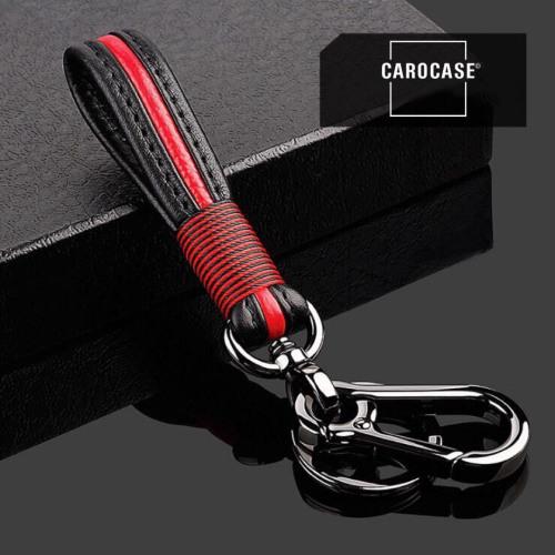 Schlüsselanhänger aus echtem Leder in trendigen Farben inkl. Karabiner
