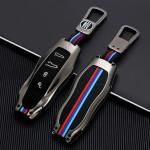 Premium Alu Schlüssel Cover für Porsche Schlüssel mit Silikon Tastenschutz + Nachleuchtend  HEK10-PEX