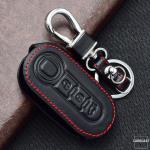 Leder Schlüssel Cover passend für Fiat...