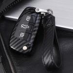 Carbon-Look Cover passend für  Schlüssel schwarz HEK21-AX3-1